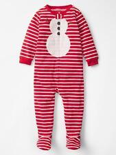NWT BABY GAP BOYS PAJAMAS PJS  Xmas Holiday Snowman fleece sleeper   5T