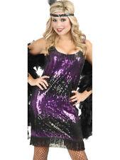 Women's Sexy Purple Sequin Flapper Costume Dress
