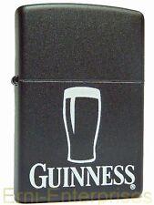 Zippo Guinness Pint Glas schwarz auf Wunsch mit persönlicher Gravur Feuerzeug