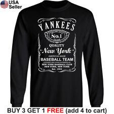 Yankees Long T-Shirt New York Whiskey NY NYC Men Cotton JD Whisky