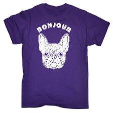 BONJOUR Frenchie T-shirt da uomo compleanno Bulldog Francese Cucciolo Cagnolino Carino Divertente Regalo