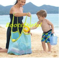 Damen Kinder Strandtasche Spielzeugtasche Faltbare Groß Netztasche Sandspielzeug