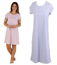 Womens Spotty Night Dress Slenderella Ladies Polka Dot Short Sleeved Nighty