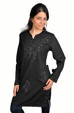 Wunderschöne Orientalische Damen Tunika Bluse mit Stickerei in schwarz -  FT0033