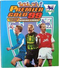 MERLIN   PREMIER GOLD 99 FOOTBALL  1999 BASE / BASIC  CARDS 001 TO 150  CHOOSE