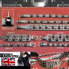 40 Years of gothic punk sfera con borchie di pelle Accessorio UK handmade