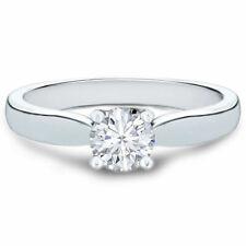 Diamant Solitär Ring 0.50 ct (G-H/SI2) 585/14K Weißgold (Alle Ringgrößen)