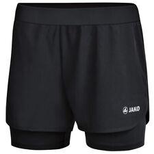 Jako 2 in 1 Shorts Damen Laufshorts Fitness Short Trainingshose schwarz 6149