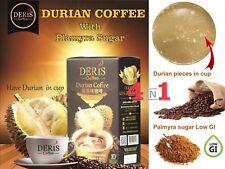 Deris instant Coffee w Montong Durian fruit pieces & Palmyra sugar Low GI aroma