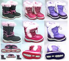 Mädchen Kinder Pineapple Thermo Pelz gefüttert Schnee Gummistiefel rosa flieder