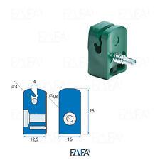 Spanndrahthalter grün gruen Drahthalter mit Schraube Zaunzubehoer Kunststoff