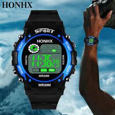 Womens Mens Digital LED Sports Wrist Watch Bracelet Rubber Silicone Wristwatches