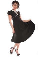 Retro rockabilly polka dots Petticoat vestido swing vestido espalda libre