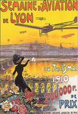 Arte cartel-francés Air Plane-avión - 1910 carrera-Deco A3 impresión
