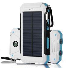 HOT USB Waterproof Solar Power Bank 300000mAh Portable External Battery Charger