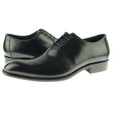 Carrucci Plain Toe Wholecut Oxford, Men's Dress Leather Shoes, Black