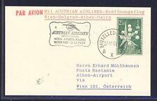 43445) AUA FF Wien - Athen Greece 2.12.59, Karte ab Belgien