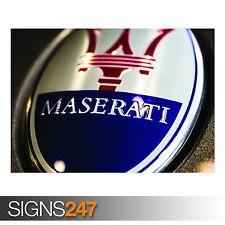 MASERATI LOGO CLOSE-UP (AA624) CAR POSTER - Photo Poster Print Art * All Sizes