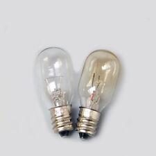 5x E12 Screw Base Night Light Indicator Light Bulb 24V 30V 110V 220V Warm Yellow