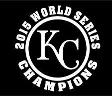 2015 World Series Champions Kansas City Decal Sticker  Buy 2 Get 1 FREE