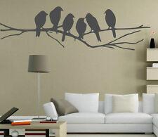 Graziosi Uccelli Sul Ramo Parete In Vinile Adesivi. 15 cm x 50 cm. molti Colori. NUOVO UK