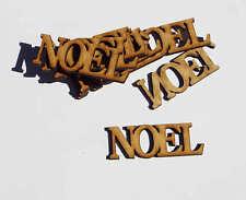 wooden craft NOEL  shapes, laser cut 3mm mdf embellishments