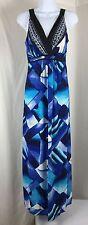 GNW Great Northwest Womens Maxi Dress Long Sleeveless Blue Sizes S-XL