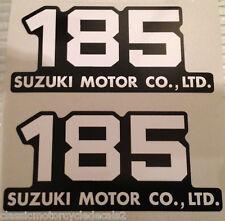 SUZUKI TS185 SIDE PANEL DECALS