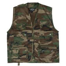 Militaire Multi Pocket Vest Jacht Outdoor Waistcoat Woodland Camo S-3Xl