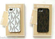 NEW MICHAEL KORS ELECTRONICS MK SIGNATURE PLASTIC iPHONE 5 CASE,COVER+BOX