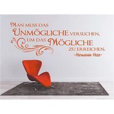 Spruch WANDTATTOO  das Unmögliche Mögliche Hesse Zitat Wandaufkleber Sticker 2