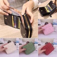 Fashion Women's PU Leather Small Wallet Clutch Coin Purse Short Handbag Bag Q