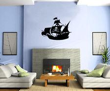 Pirate Ship Skeleton Sail Sea Decor Wall Mural Vinyl Decal Art Sticker M599