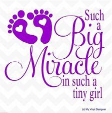 SUCH A BIG MIRACLE - Girl vinyl sticker nursery wall tile door mirror