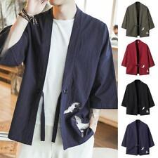 Men's Oversized Kimono Cardigan Jacket Yukata Coat Loose Sun protection Jacket