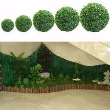 Artificial Green Grass Ball Plant Topiary Hanging Garland Home Garden Decor New