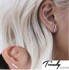 Trendy Gold Silver Punk Simple T Bar Earrings For Women Ear Stud Earrings