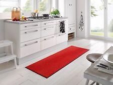 Fußmatte KLEEN-TEX wash + dry Monocolour Scarlet  Rot in 7 Größen lieferbar