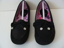 NEW Girls Black Flats Shoes Size 1 Mootsies Tootsies School Dress Slip-On NIB