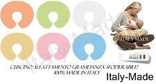 CUSCINO ALLATTAMENTO GRAVIDANZA  MULTIUSO SFODERABILE VARIANTI MADE IN ITALY
