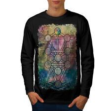 La geometria CERCHI Moda Uomo manica lunga T-shirt Nuove | wellcoda