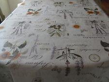 Tischdecke Wachstuch oval 140 cm versch. Längen, Lavendula(1m=4,99€)