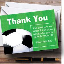 Campo di calcio palla calcio Personalizzati Festa di Compleanno CARTOLINE di ringraziamento