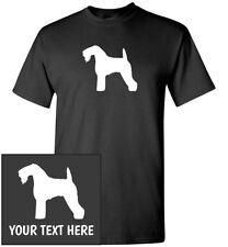 Kerry Blue Terrier Silhouette T-Shirt, Men Women Youth Kids Long Tank Custom Tee