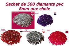 500 DIAMANTS PVC 8mm 2CT DÉCORATION DE TABLE - mariage fiançailles baptême