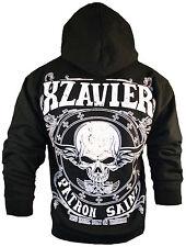 XZAVIER [SKULL PATRON SAINT] HOODIE ZIPPER PULLOVER ROCKER BIKER 666 ROCKABILLY