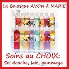 SOINS AVON Naturals LAIT GOMMAGE GEL Douche déo Vapo Corps NEUF au CHOIX