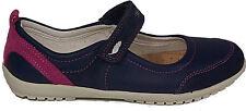 GEOX Schuhe Halbschuhe Spangenschuhe Klettverschluß J Vega D Echt Leder Blau NEU