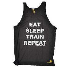 Eat Sleep Train Repeat SWPS UNISEX VEST singlet birthday gym fitness training