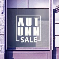 Autumn Sale Sign Retail New Vinyls Shop Window Display Wall Decals Stickers B25